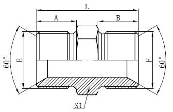 BSP მამაკაცი Adapter ფურნიტურა ნახატი
